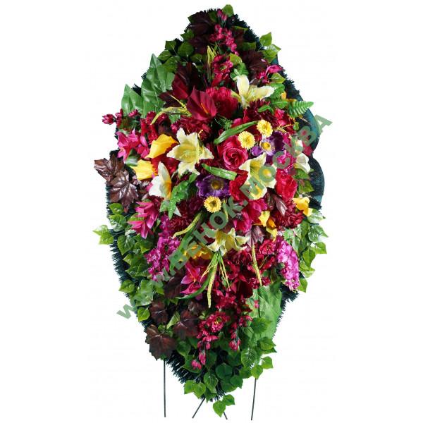 венок из искусственных цветов ЭЛИТ ВИЭ-041