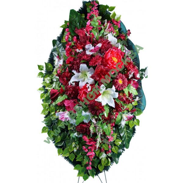 венок из искусственных цветов ЭЛИТ ВИЭ-042