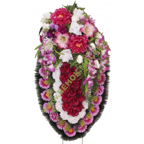 Венок из искусственных цветов ЭЛИТ ВИЭ-070