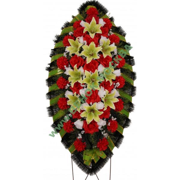 венок из искусственных цветов СТАНДАРТ ВИС-001