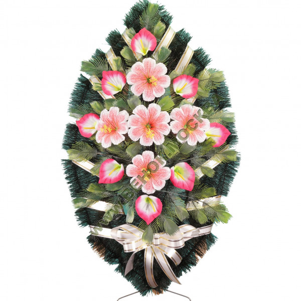 венок из искусственных цветов СТАНДАРТ ВИС-002
