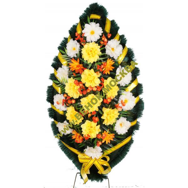 венок из искусственных цветов СТАНДАРТ ВИС-006