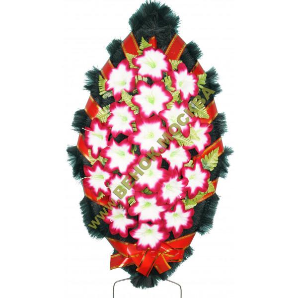 венок из искусственных цветов СТАНДАРТ ВИС-016