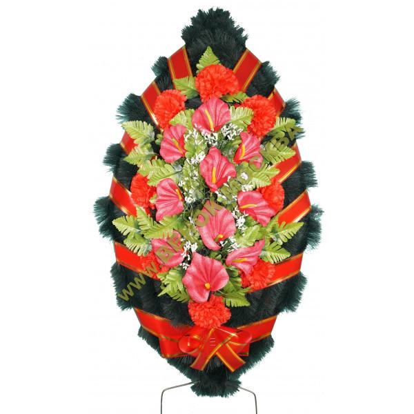 венок из искусственных цветов СТАНДАРТ ВИС-017