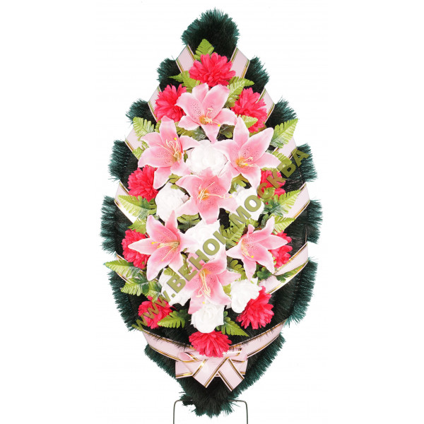 венок из искусственных цветов СТАНДАРТ ВИС-018