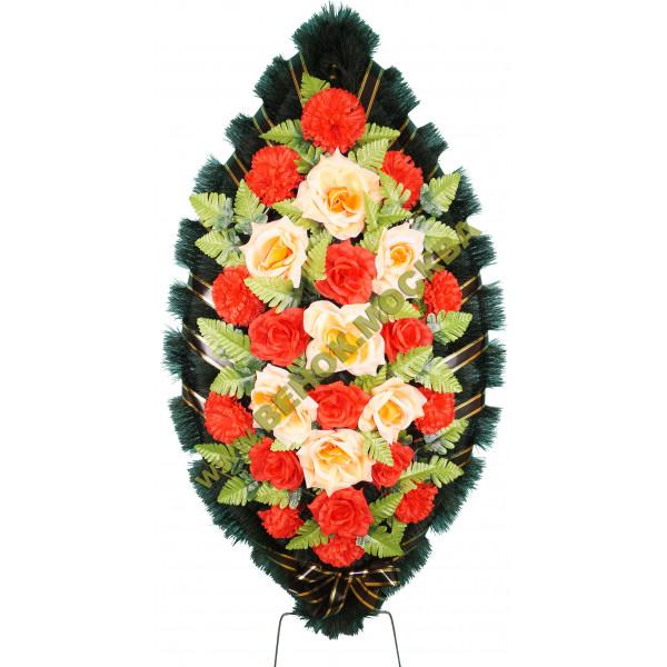 венок из искусственных цветов СТАНДАРТ ВИС-021