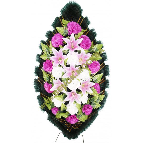венок из искусственных цветов СТАНДАРТ ВИС-022