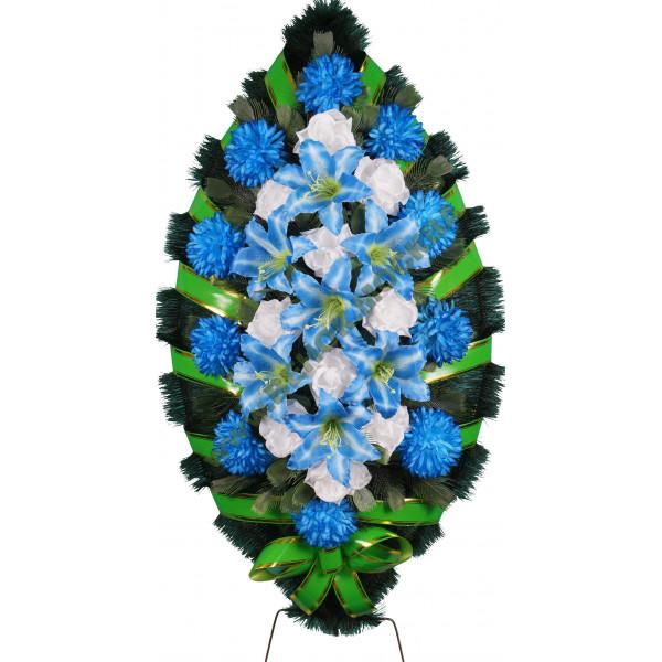 венок из искусственных цветов СТАНДАРТ ВИС-023