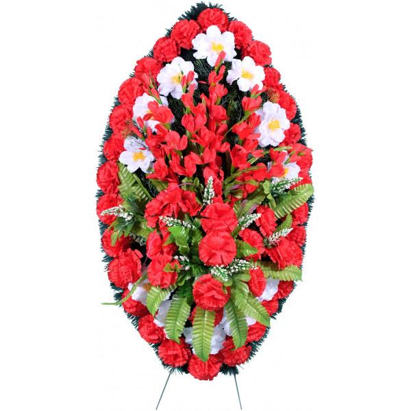 венок из искусственных цветов ЗАКАЗ ВИЗ-002