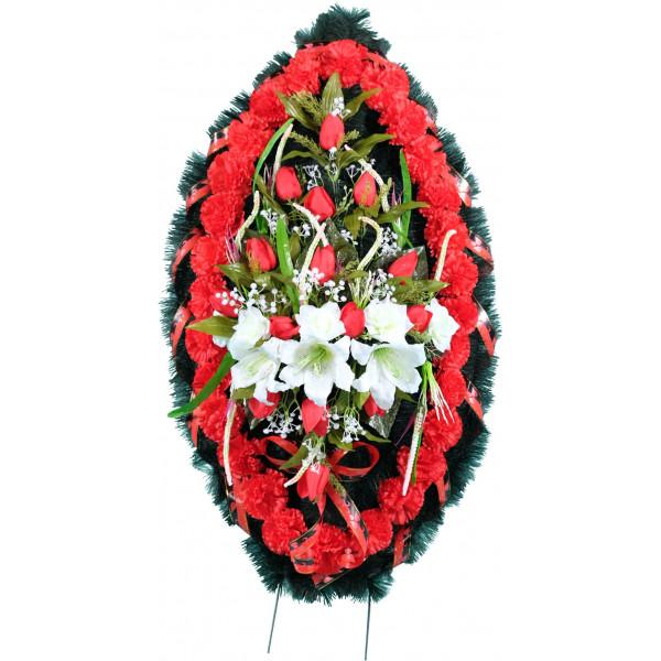 венок из искусственных цветов ЗАКАЗ ВИЗ-003