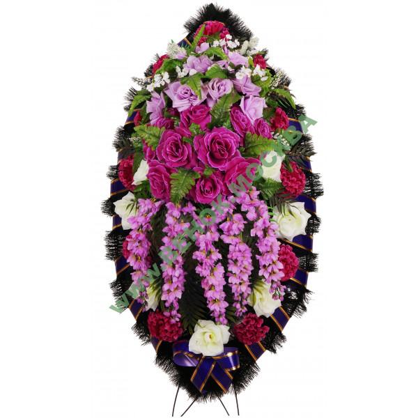 венок из искусственных цветов ЗАКАЗ ВИЗ-005
