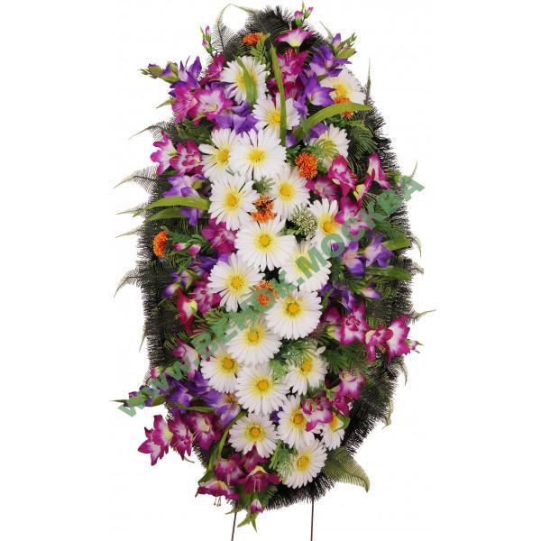 венок из искусственных цветов ЗАКАЗ ВИЗ-008