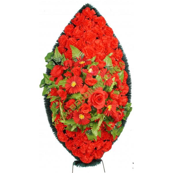венок из искусственных цветов ЗАКАЗ ВИЗ-009