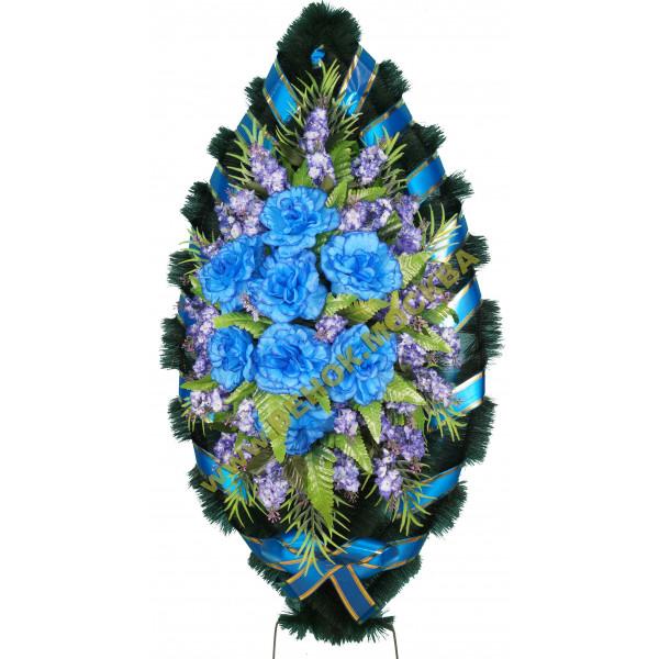 венок из искусственных цветов ЗАКАЗ ВИЗ-010