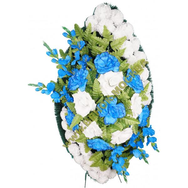 венок из искусственных цветов ЗАКАЗ ВИЗ-011
