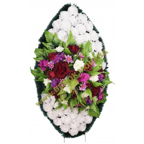 венок из искусственных цветов ЗАКАЗ ВИЗ-012