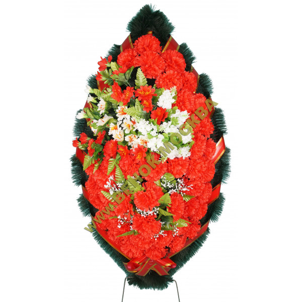 венок из искусственных цветов ЗАКАЗ ВИЗ-013
