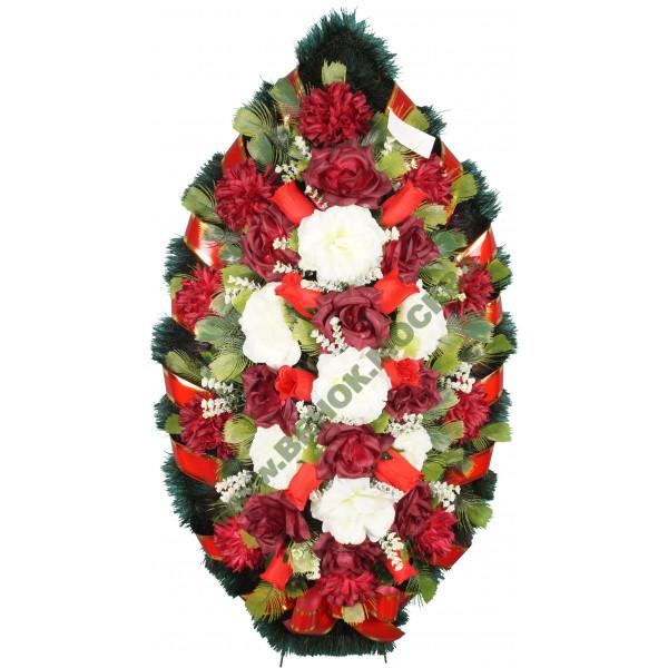 венок из искусственных цветов ЗАКАЗ ВИЗ-014