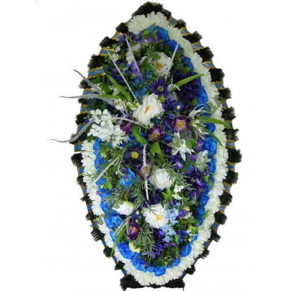 венок из искусственных цветов ЗАКАЗ ВИЗ-015