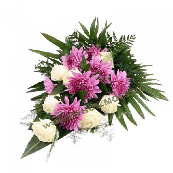 букет траурный из живых цветов БЖ-11