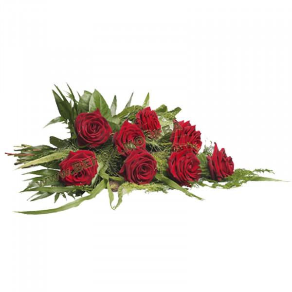 букет траурный из живых цветов БЖ-13