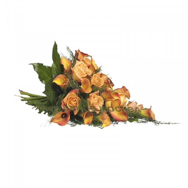 букет траурный из живых цветов БЖ-14