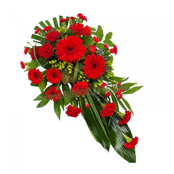 букет траурный из живых цветов БЖ-16