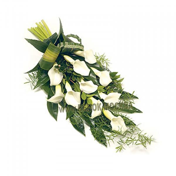 букет траурный из живых цветов БЖ-17