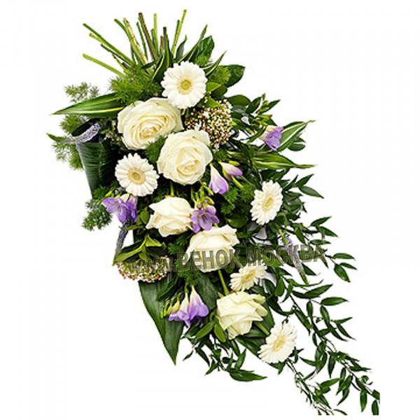 букет траурный из живых цветов БЖ-20