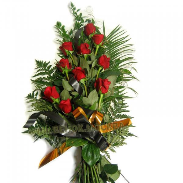 букет траурный из живых цветов БЖ-23