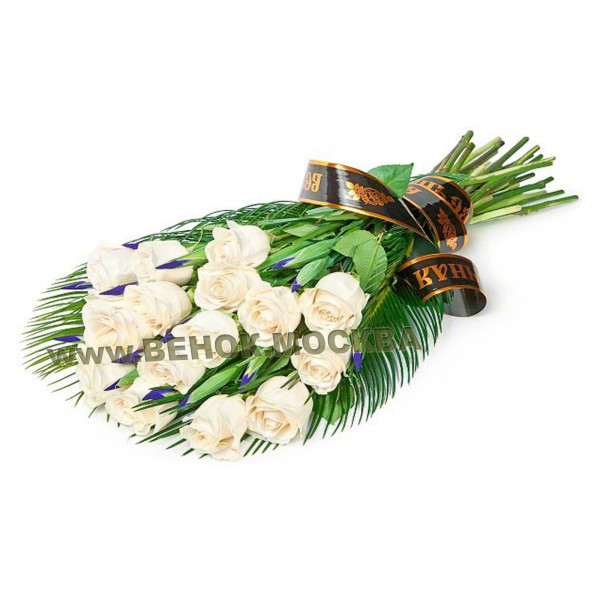 букет траурный из живых цветов БЖ-24