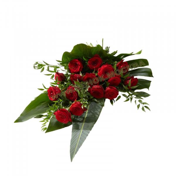 букет траурный из живых цветов БЖ-06