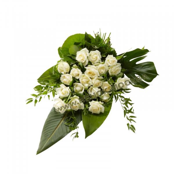 букет траурный из живых цветов БЖ-07