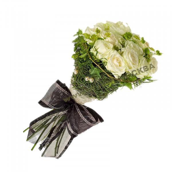 букет траурный из живых цветов БЖ-09