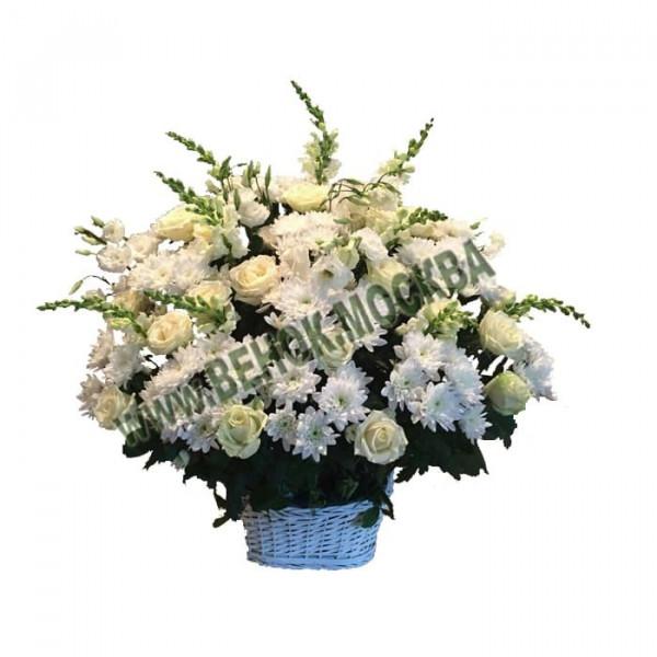 корзина из живых цветов КРЖ-27
