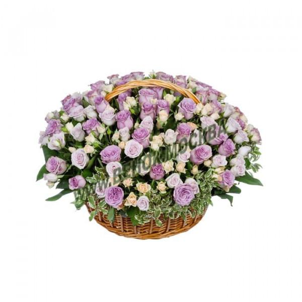 корзина из живых цветов КРЖ-28