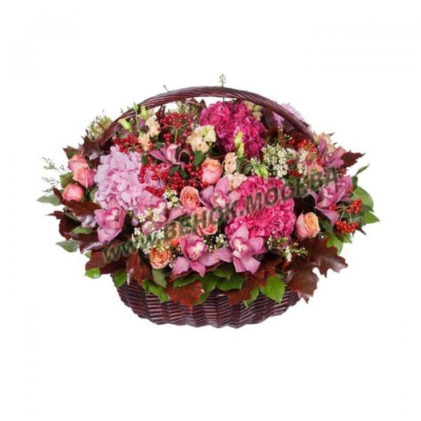 корзина из живых цветов КРЖ-30