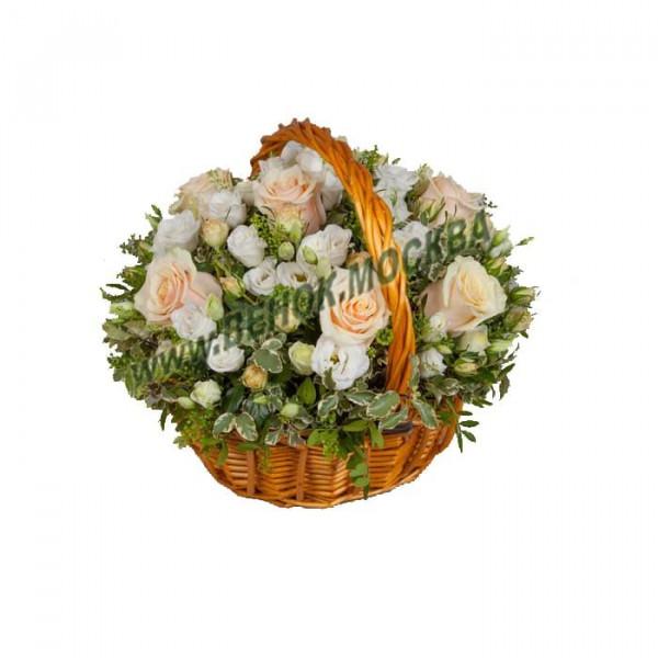корзина из живых цветов КРЖ-33
