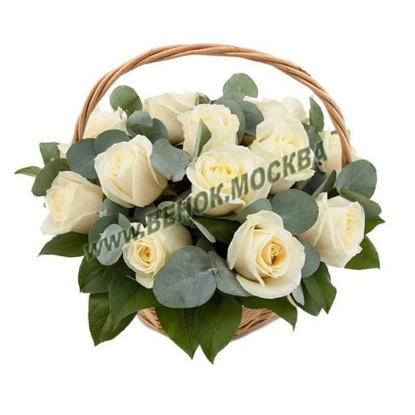 корзина из живых цветов КРЖ-37