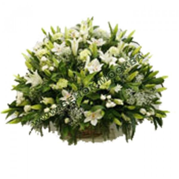 корзина из живых цветов КРЖ-39