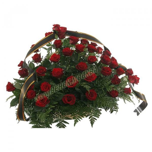 корзина из живых цветов КРЖ-40
