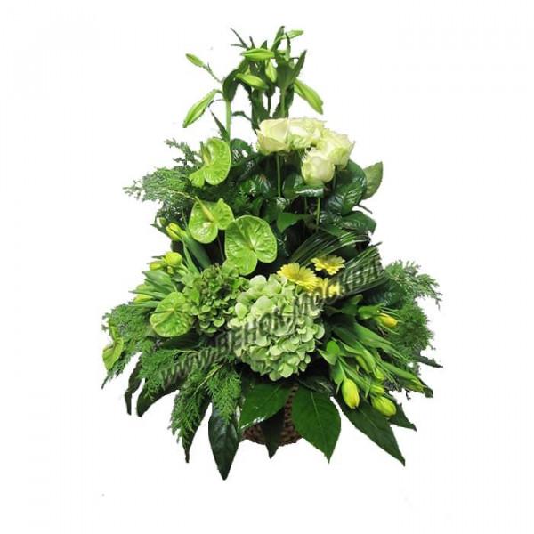 корзина из живых цветов КРЖ-41