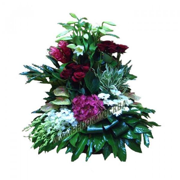 корзина из живых цветов КРЖ-42