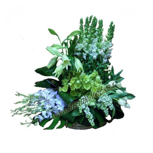 корзина из живых цветов КРЖ-43