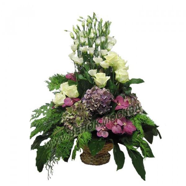 корзина из живых цветов КРЖ-46