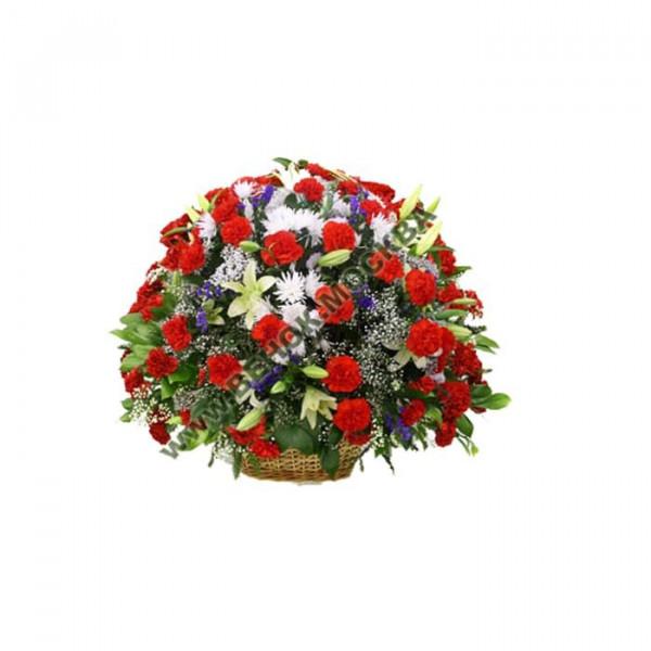 корзина из живых цветов КРЖ-17