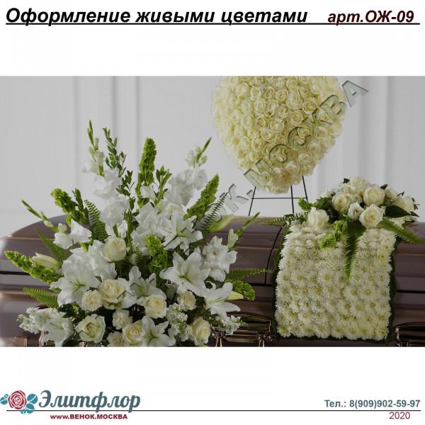 Композиции из живых цветов ОЖ-09