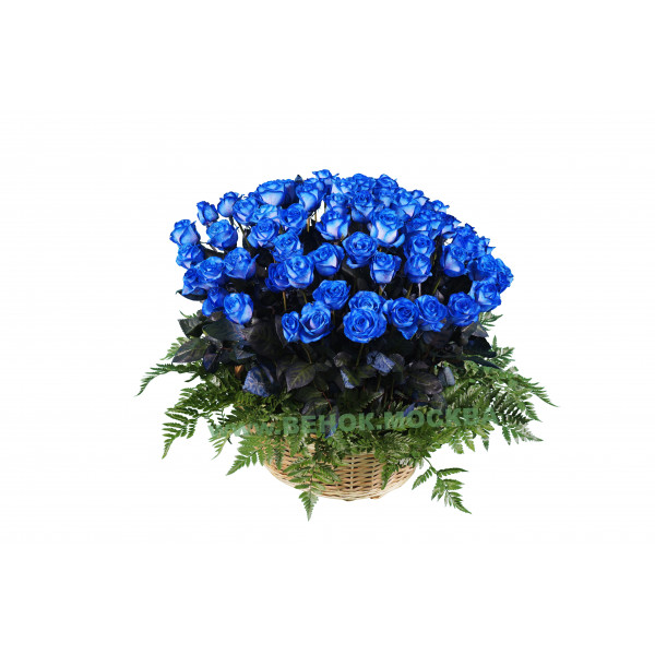корзина из живых цветов КРЖ-05