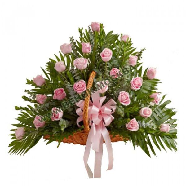корзина из живых цветов КРЖ-10