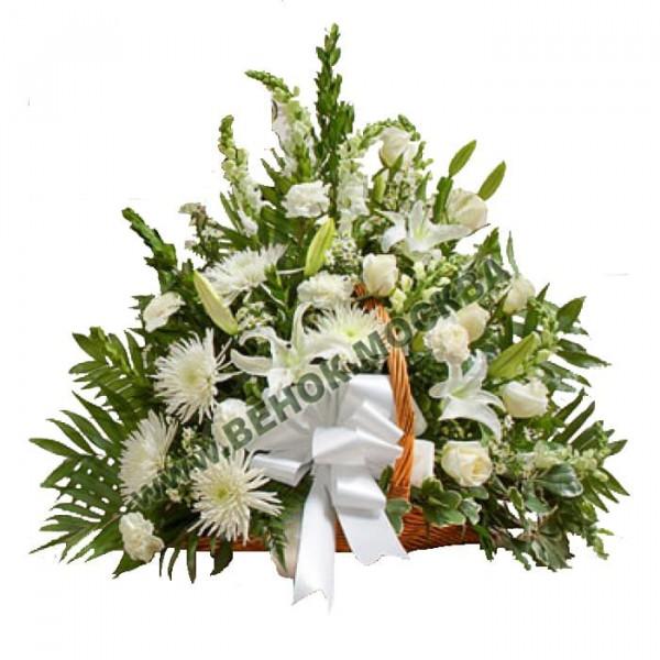 корзина из живых цветов КРЖ-12